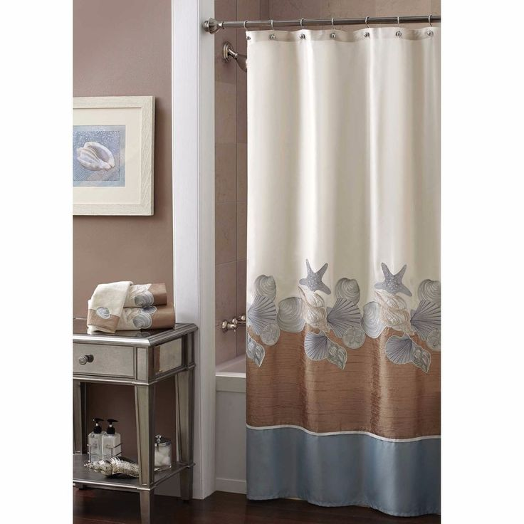 Shower Curtain With Shells Polyester Beachy And Elegant Bathroom Decor 70 quot  x 72 quot. 1000  ideas about Elegant Bathroom Decor on Pinterest   Bathroom