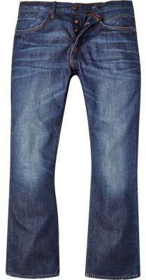 River Island MensMid wash Clint bootcut jeans