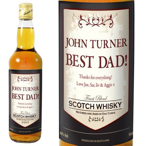 A unique gift for the Father of the Bride or the Father of the Groom - Personalised Whisky  - Personalised Classic Whisky