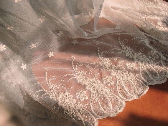 Кот вышитые тюль кружевной ткани, Старинные марли кружевной ткани, Античная занавес кружева, Mf177