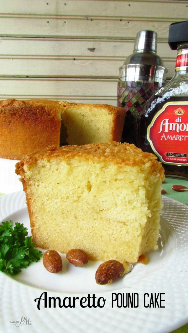 Amaretto Pound Cake - buttery pound cake is flavor with this mouth-watering amaretto
