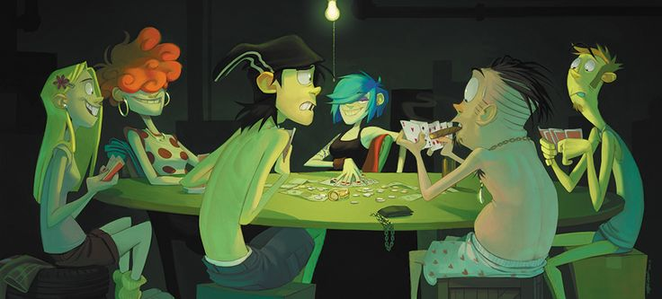 Ed Edd n Eddy Fanart by Bloochikin on tumblr: stip poker with the Eds and the Kankers