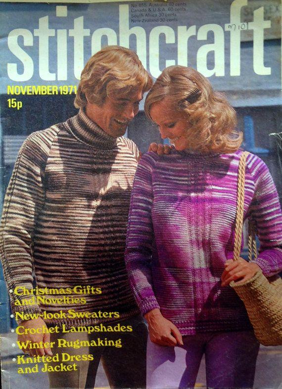1971 STITCHCRAFT KNITTING PATTERNS Magazine от sandshoevintage