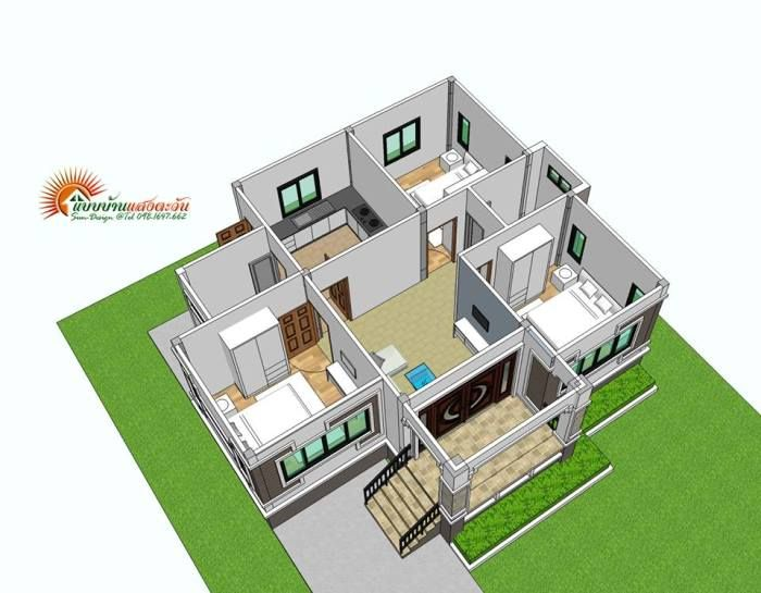 Compact But Stylish Three Bedroom Bungalow House And Decors Modern House Design Floor Plans Modern House