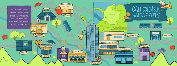 Mapas ilustrados de Colombia! - Look And Trip