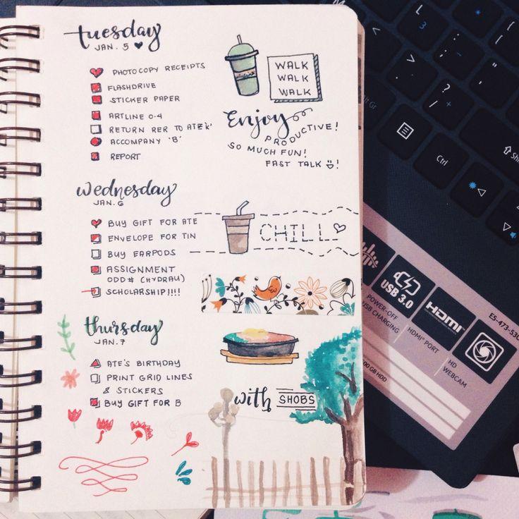 ♛ Bullet Journals ♛ — enjoying-ce: My first ever Bullet Journal Update...
