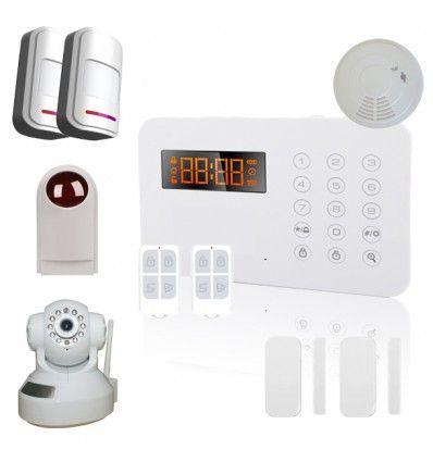 Alarme Maison sans fil RTC 2/3 pièces 100% sécurité