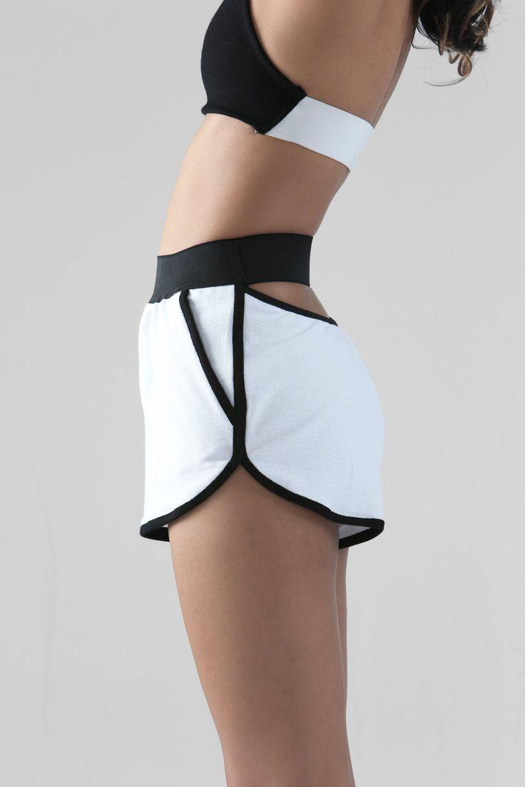 The Arc Shorts WHITE by NunBangkok on Etsy