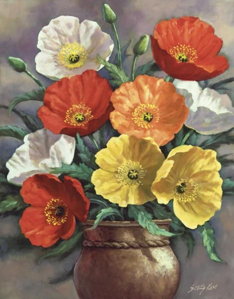 Sung Kim - Autumn Poppies - Fine Art Print - Global Gallery
