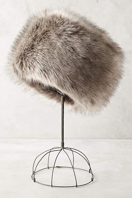 Zosia Faux-Fur Hat - anthropologie.com