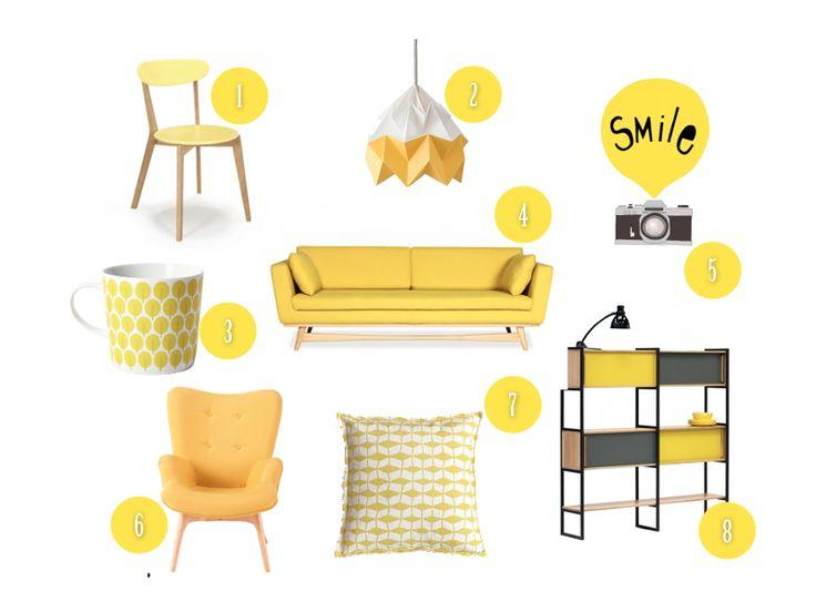 Whislist décoration jaune #déco #décoration #jaune #whislist