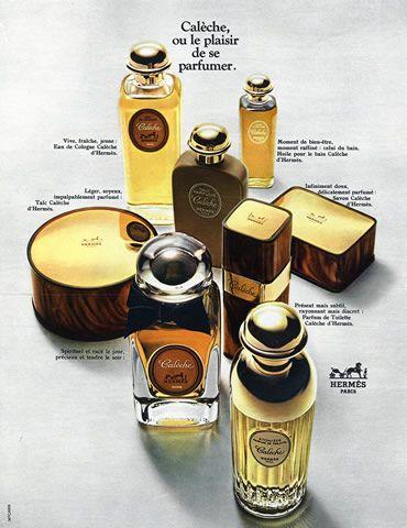 Hermès (Perfumes) 1969 Calèche Publicité ancienne Parfums   Hprints.com
