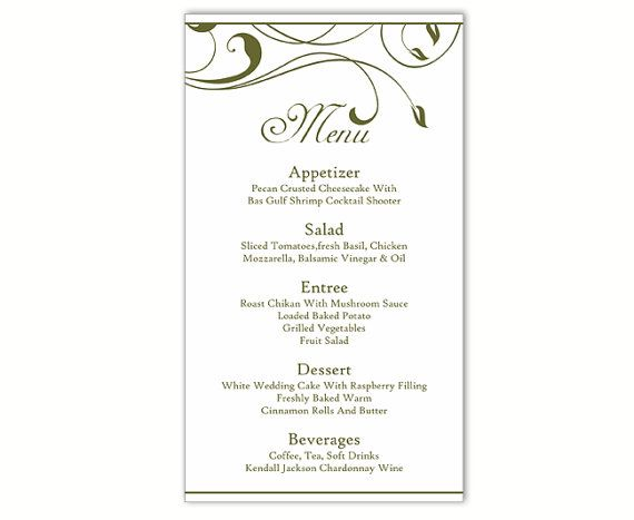 The 25+ best DIY menu cards template ideas on Pinterest DIY - free word menu template