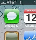 iPhone text icon