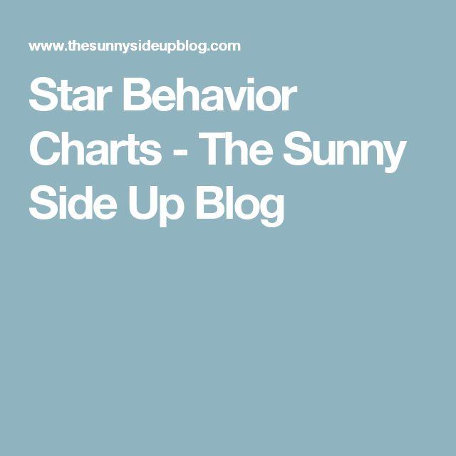 Star Behavior Charts - The Sunny Side Up Blog