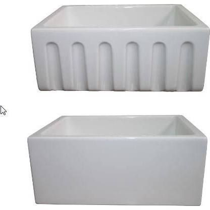 24 Inch Farmhouse Sink : LaToscana LAT/R2418W 24 Inch Reversible Fireclay Farm Sink m&d ...