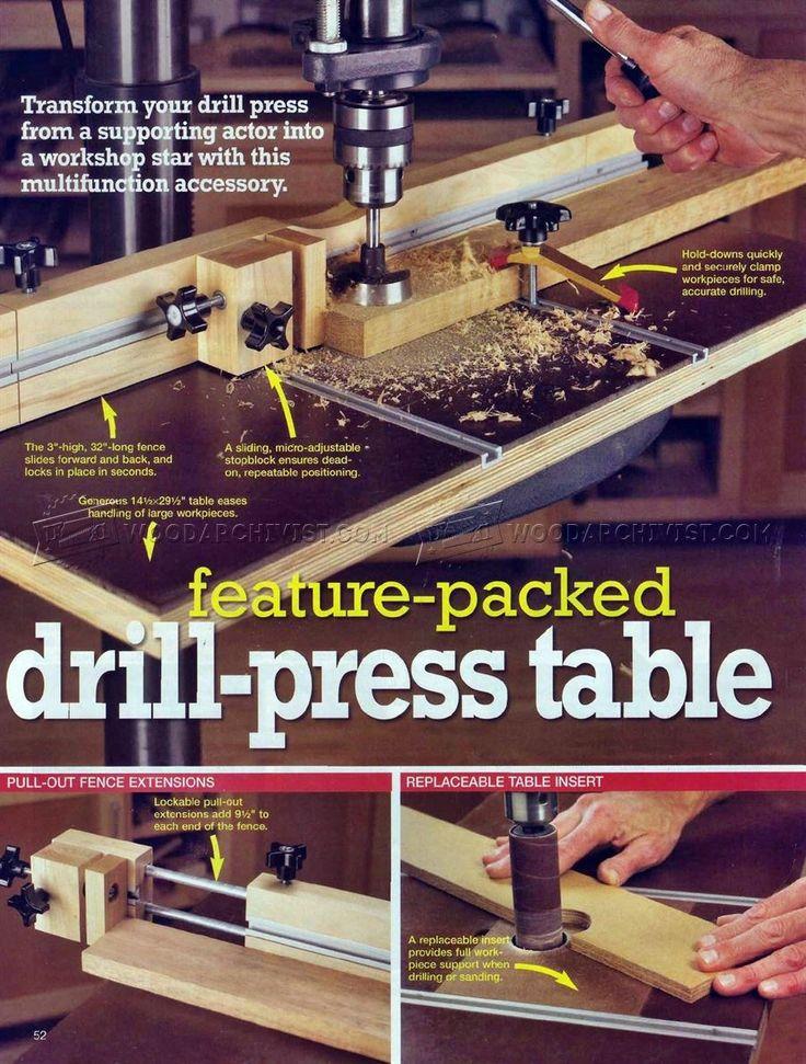 #2630 Drill Press Table and Fence Plans - Drill Press  - WoodArchivist