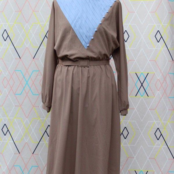 Mink & Blue Triangular Dress   devil wears vintage