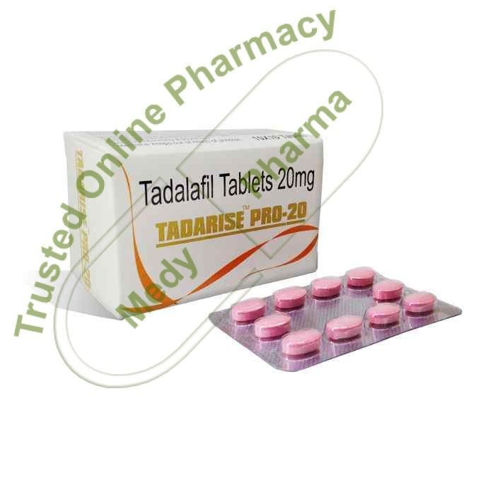 Buy Tadarise Pro 20mg Tadarise Pro 20 Mg is another name of Tadalafil. It is a medium potency medicine to cure erectile dysfunction. It relaxes and improves blood flow to certain parts of the body. It's most common use is in improving sexual performance in males.   Class and Mechanism of Action Tadalafil is a phosphodiesterase type 5 inhibitor.   #buytadarise40 #cialisgenericotadarise #doestadarisework #effetticollateralitadarise #extrasupertadarisekaufen #genericciali