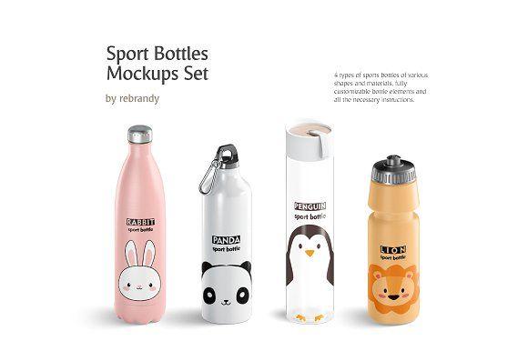 Download Sport Bottles Mockups Set Bottle Mockup Free Packaging Mockup Design Mockup Free