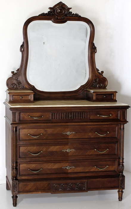 Antique French Louis XVI Walnut Dresser | Antique Dressers | Inessa  Stewart's Antiques - 252 Best French Furniture Images On Pinterest Antique Furniture