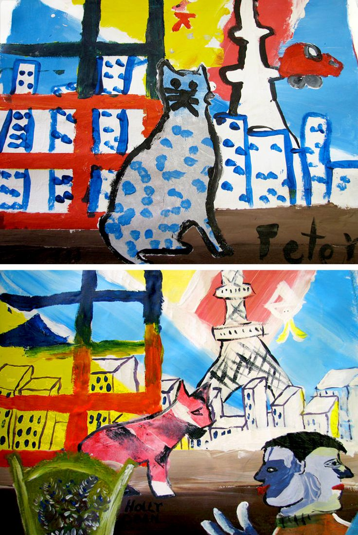 Marc Chagall paint project for kids