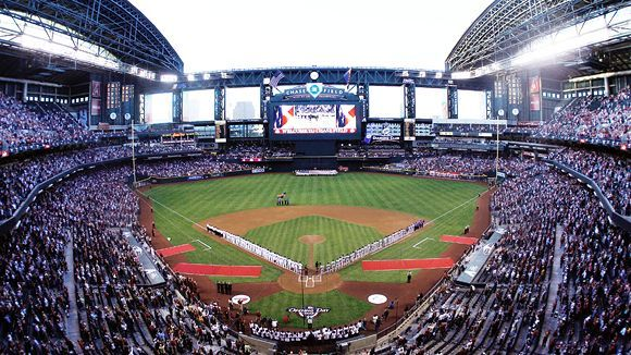 There is nothing like walking into Chase Field and seeing the baseball field for the first time!