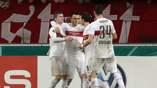 DFB-Pokal: Stuttgart - Braunschweig 3:2 n.V.: Schiri schenkt Stuttgart das Viertelfinale www.bild.de/sport/fussball/dfb-pokal-achtelfinale/schiri-schenkt-vfb-viertelfinale-43831128.bild.html lol,with much effort to quarterfinal+cant win with own effort,so that won as a gift of ref+dont hope to go to final, if still heartless etc this Friday lol