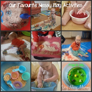 Lots of messy play activities for babies and toddlers