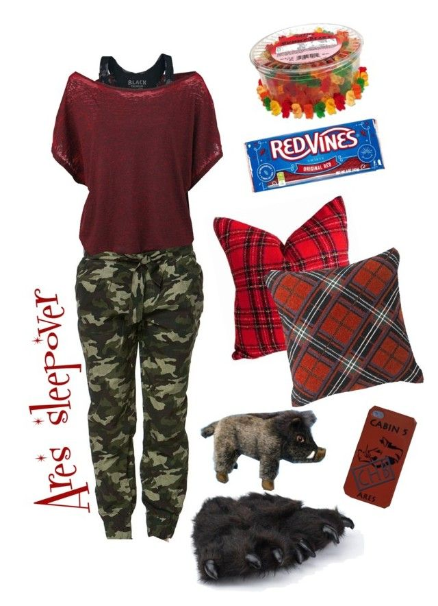 Cabin 5 sleepover by amypaul713 on Polyvore featuring polyvore, fashion, style, River Island, Williams-Sonoma, clothing, percyjackson, Demigod, Ares and cabin5