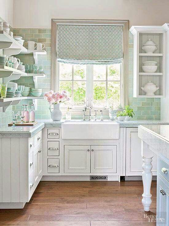Farmhouse Details   Apron Style Sinks Immediately Say Country Kitchen.