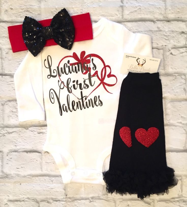 A personal favorite from my Etsy shop https://www.etsy.com/listing/510727621/baby-girl-clothes-valentines-bodysuit-my