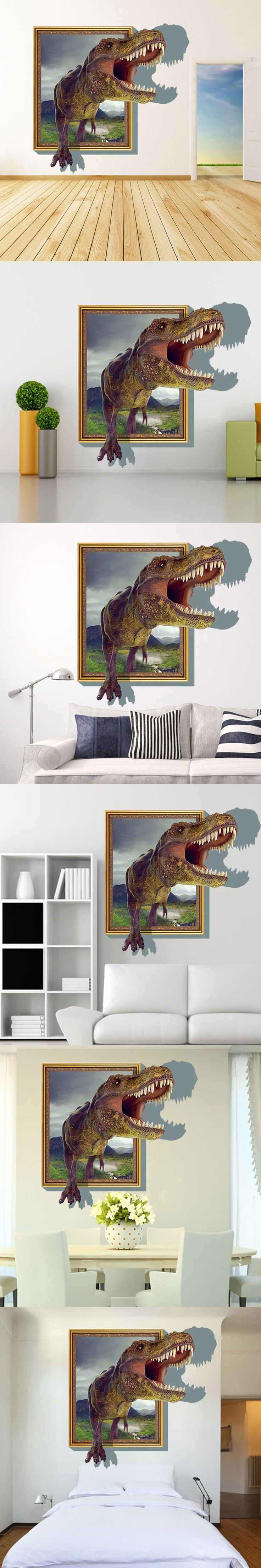Best  Dinosaur Wall Stickers Ideas On Pinterest Dinosaur Wall - 3d dinosaur wall decals