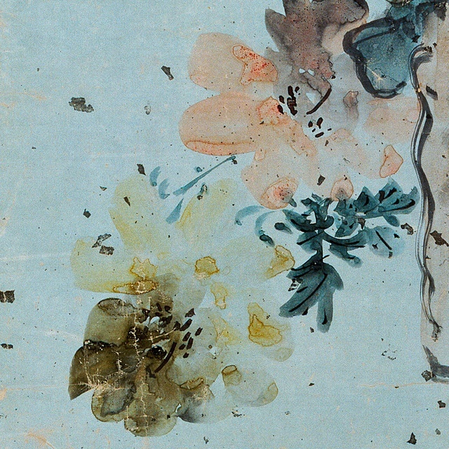 Trumpet Creepers and Peonies   Joseon period painting