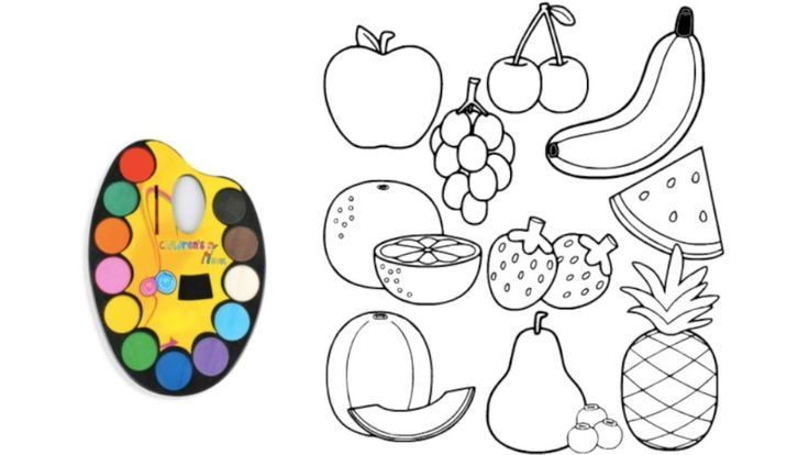 10 Fruit Coloring Pages Fruits Drawing And Coloring Pages For