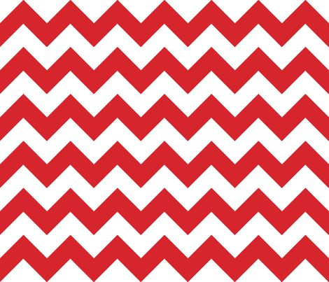 Chevrons Red and White fabric by juliesfabrics on Spoonflower - custom fabric
