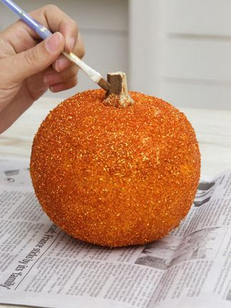 DIY sparkle pumpkin