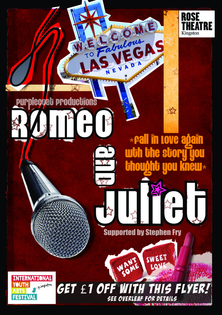 The flyer for our production of Romeo and Juliet at the Rose Theatre, Kingston