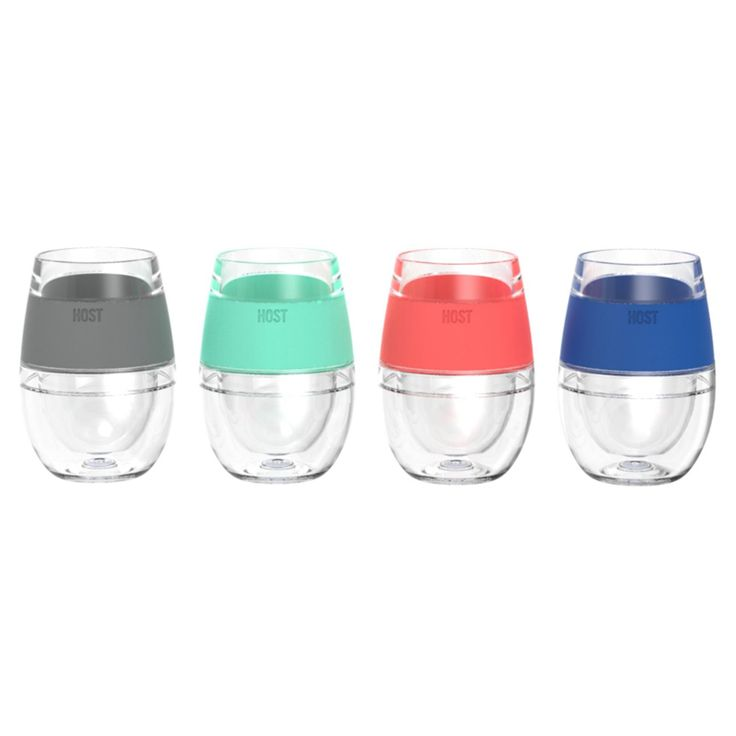 Host Wine Freeze Cooling Cups Set Of 4 Wine Cupping Set Wine