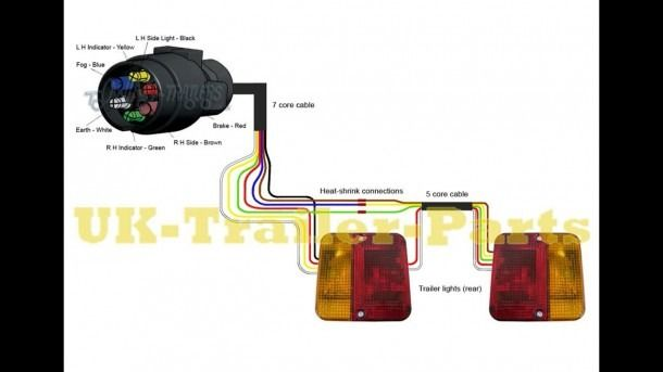7 Pin Trailer Wiring Diagram With Brakes Trailer Light Wiring Trailer Wiring Diagram Boat Trailer Lights