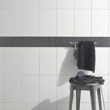 Faïence Mur Blanc, White L.25 X L.40 Cm | Leroy Merlin