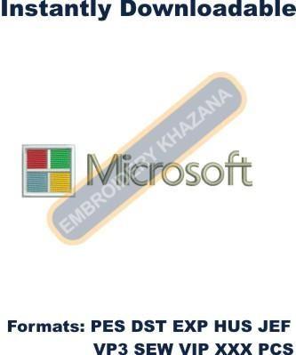 Microsoft Logo Embroidery designs