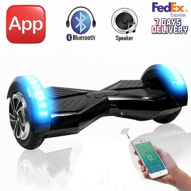 8インチbluetooth hoverboardでモバイルアプリ電気スマートバランス2輪セルフバランシングスクーターホバーボードスケートボード