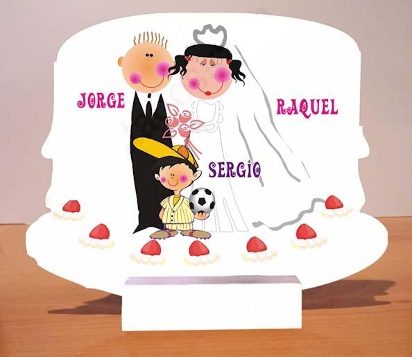 Presentación a juego con la invitación de boda para los obsequios.