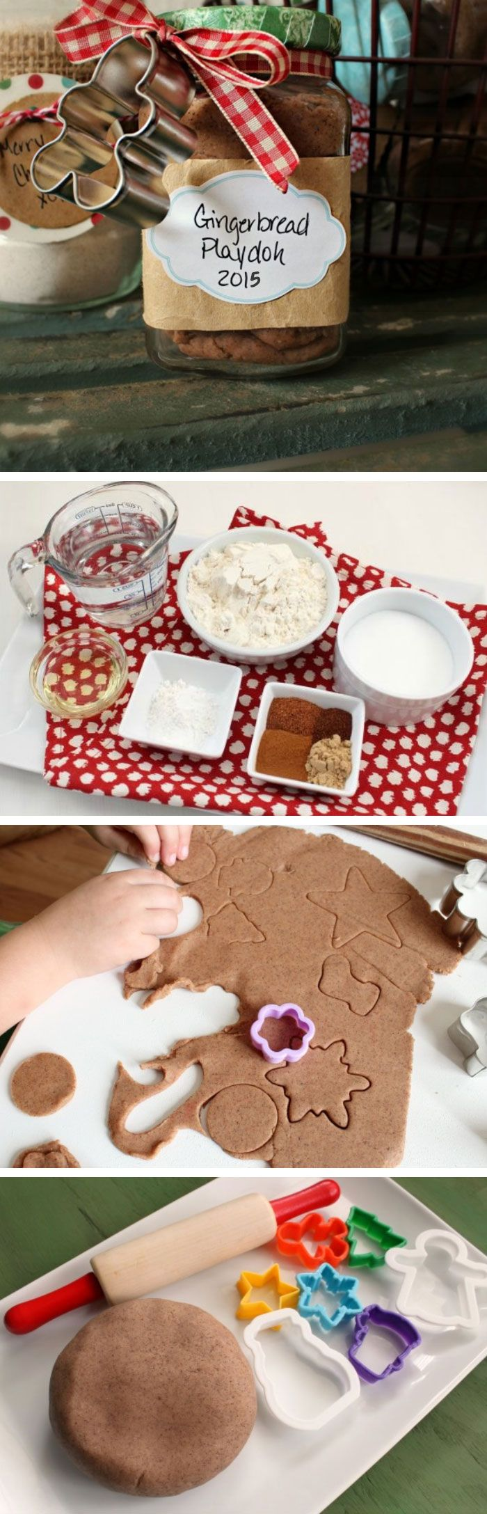 Gingerbread Playdough | Click Pic for 22 DIY Christmas Gifts for Kids to Make | Handmade Christmas Gifts for Girls