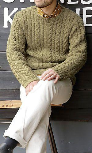 Ravelry: 214a-30 Men's Sweater pattern by Pierrot (Gosyo Co., Ltd) - free knitting pattern