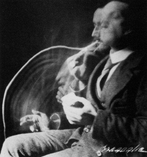 Anon Giulio et Arturo Bragaglia  Le Fumeur (1913).
