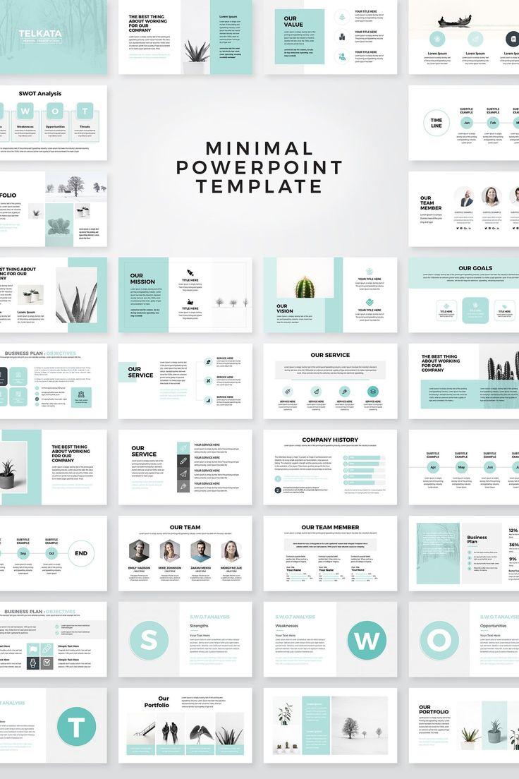 Plantilla de PowerPoint de Plan de Negocios Moderno