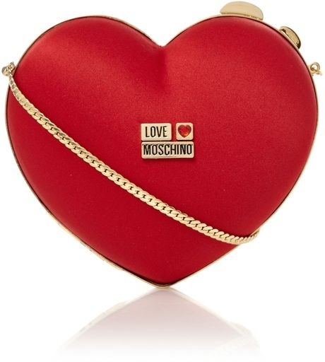 LOVE MOSCHINO - Red Heart Clutch Bag