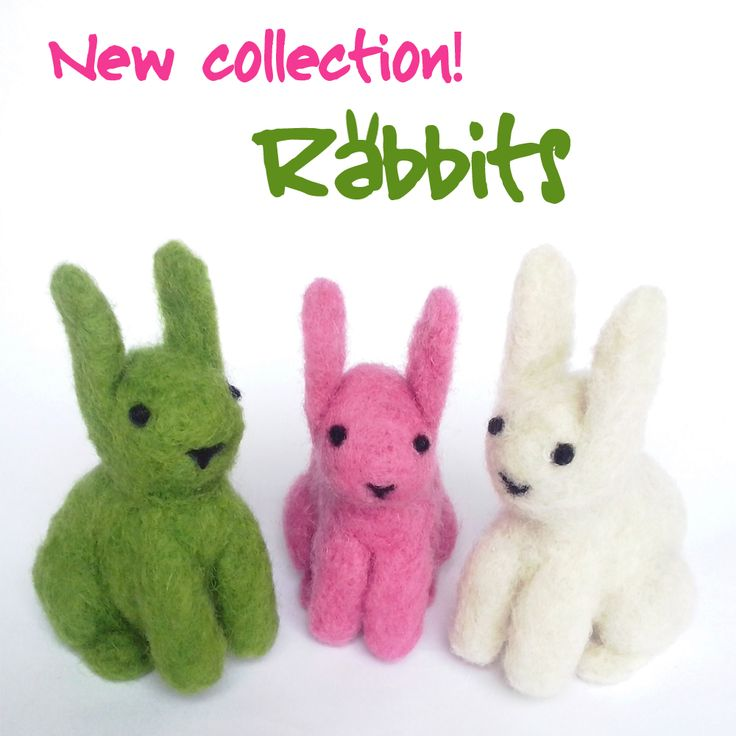 felted rabbits